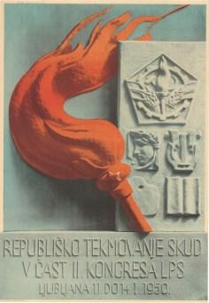Republiško tekmovanje SKUD v čast II. kongresa LPS (1950) (fonte: Digitalna Knjižnica Slovenije)