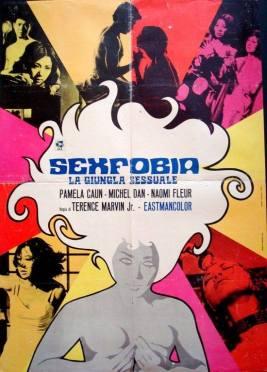"""""""Sexfobia la giungla sessuale"""" di Terence Marvin Jr., 1970 artwork: Sandro Symeoni (fonte: facebook.com/SandroSymeoni)"""