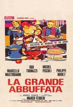 """""""La grande abbuffata"""" di Marco Ferreri, 1973 artwork: Sandro Symeoni (fonte: facebook.com/SandroSymeoni)"""