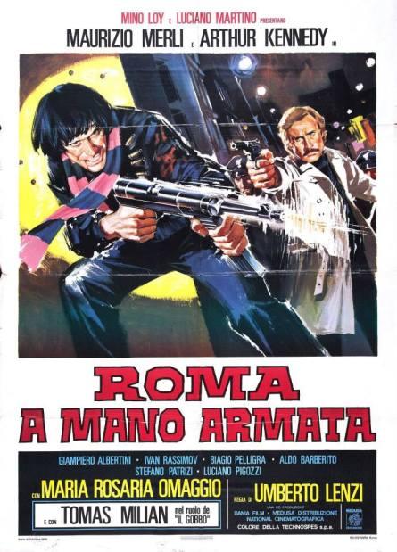 """Roma a mano armata"" di Umberto Lenzi, 1976 artwork: Sandro Symeoni (fonte: facebook.com/SandroSymeoni)"