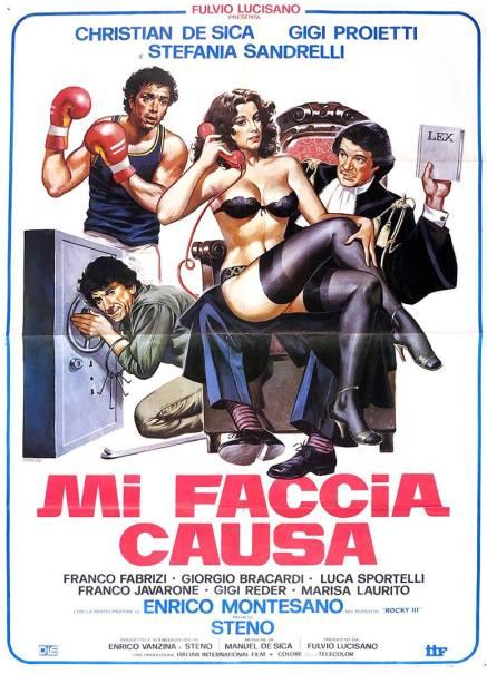 """""""Mi faccia causa"""" di Steno, 1984 artwork: Sandro Symeoni (fonte: facebook.com/SandroSymeoni)"""