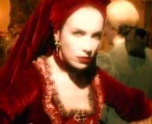 Annie Lennox Walking on Broken Glass video costumes