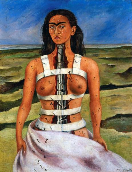 The Broken Column, 1944, by Frida Kahlo