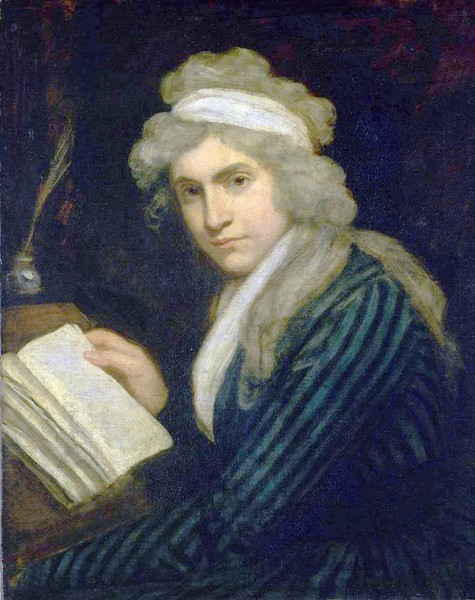 Mary Wollstonecraft, 1790, by John Opie