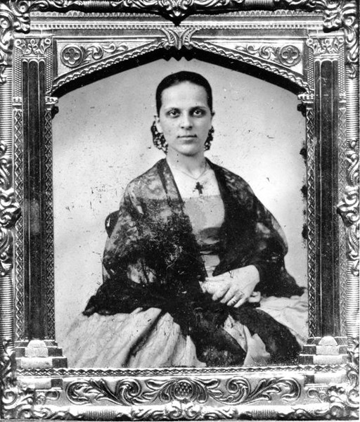 Californio woman, 1856, Oakland Museum of California.
