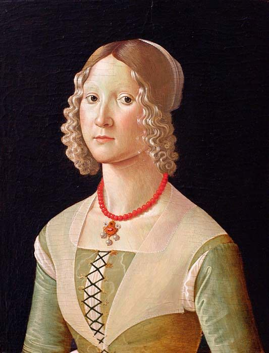 Portrait of a Young Lady by Domenico Ghirlandaio.