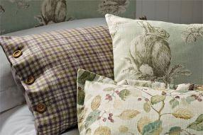 4. Sanderson-Woodland-Walk-Fabrics-Squirrel-and-Hedgehog-Cushion
