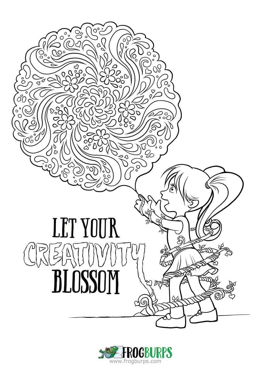 Let Your Creativity Blossom | Coloring page
