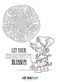 Let Your Creativity Blossom | Coloring page from Frogburps.com