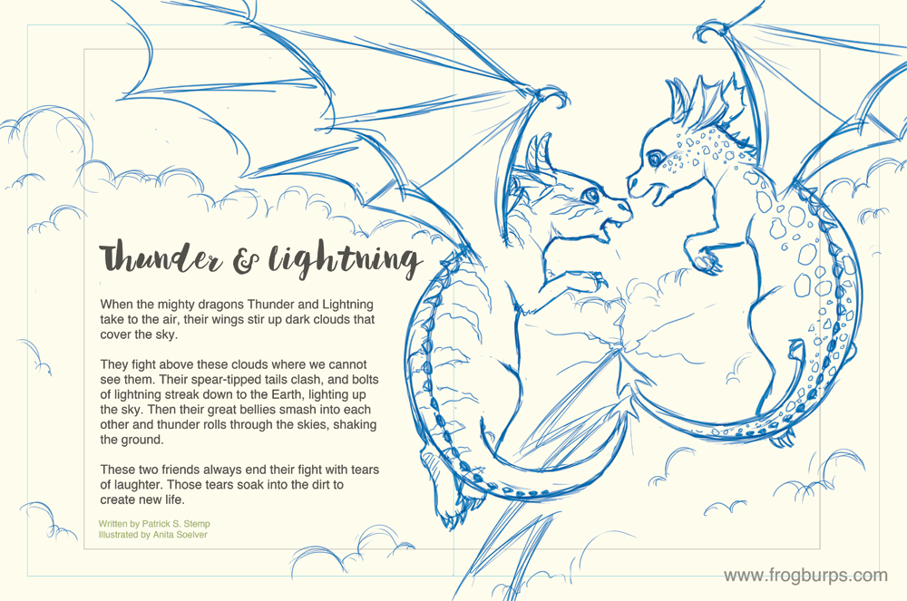 Thunder & Lightning [Sketch] | Story by Patrick S. Stemp - Illustration by Anita Soelver