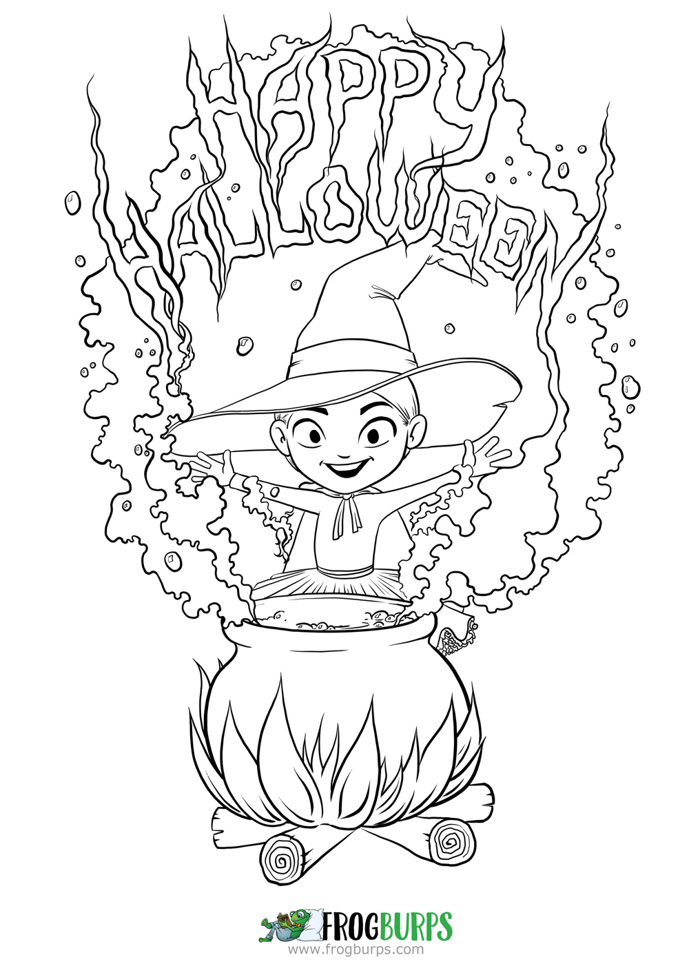 Happy Halloween| Coloring Page