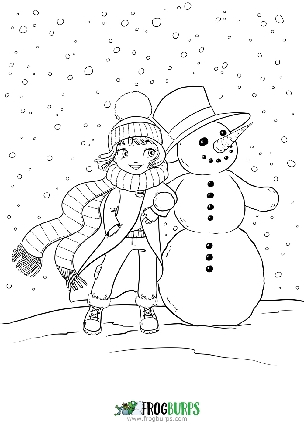 Snowfriends | Coloring Page