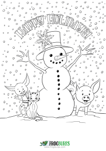 Happy Holidays | Coloring Page
