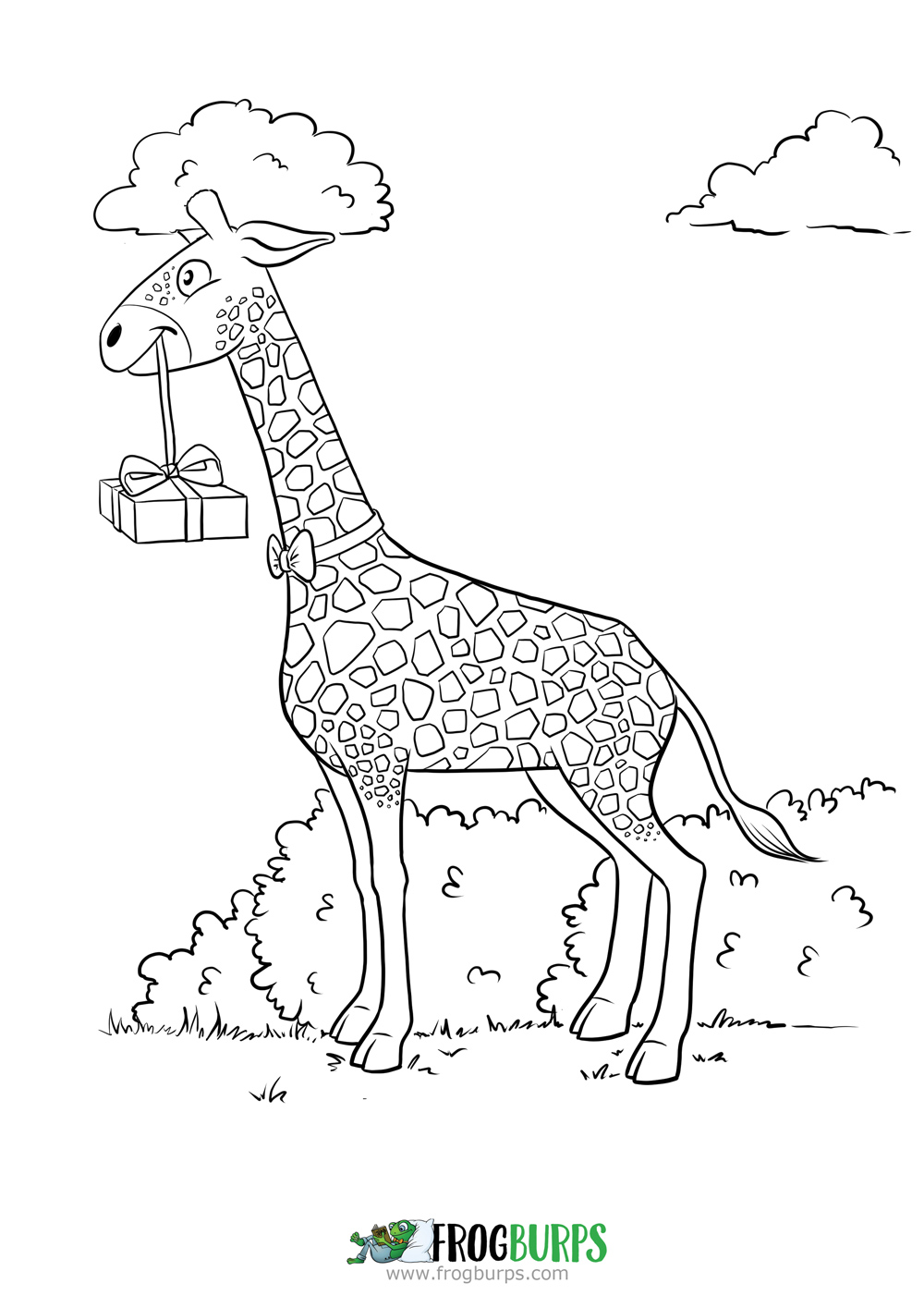 Guest Giraffe | Coloring Page