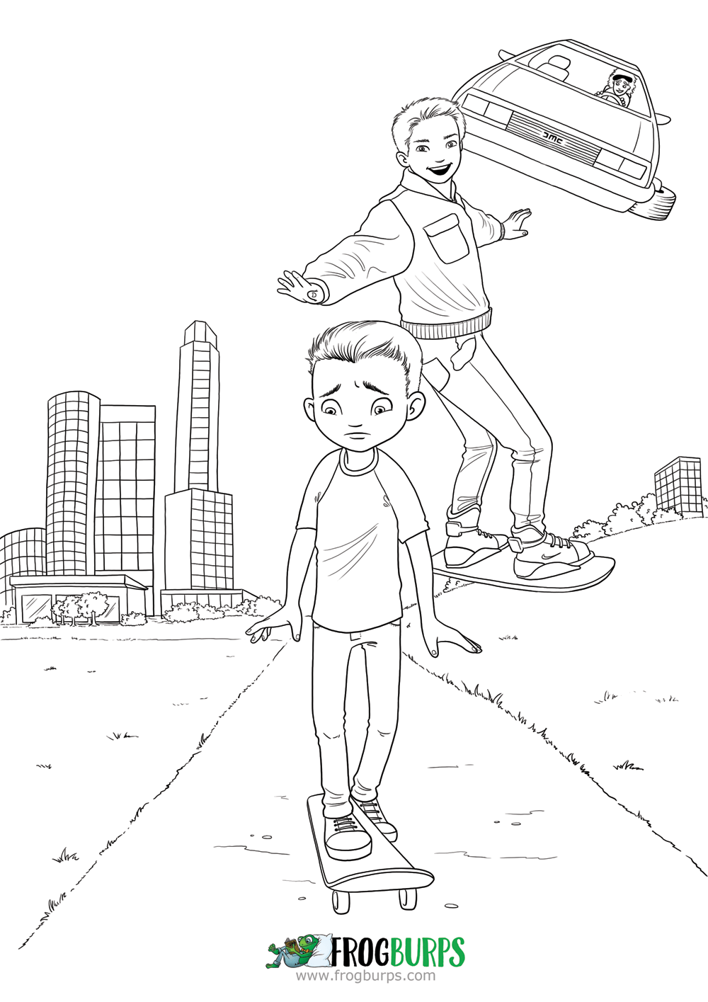 Living In The Future | Coloring Page