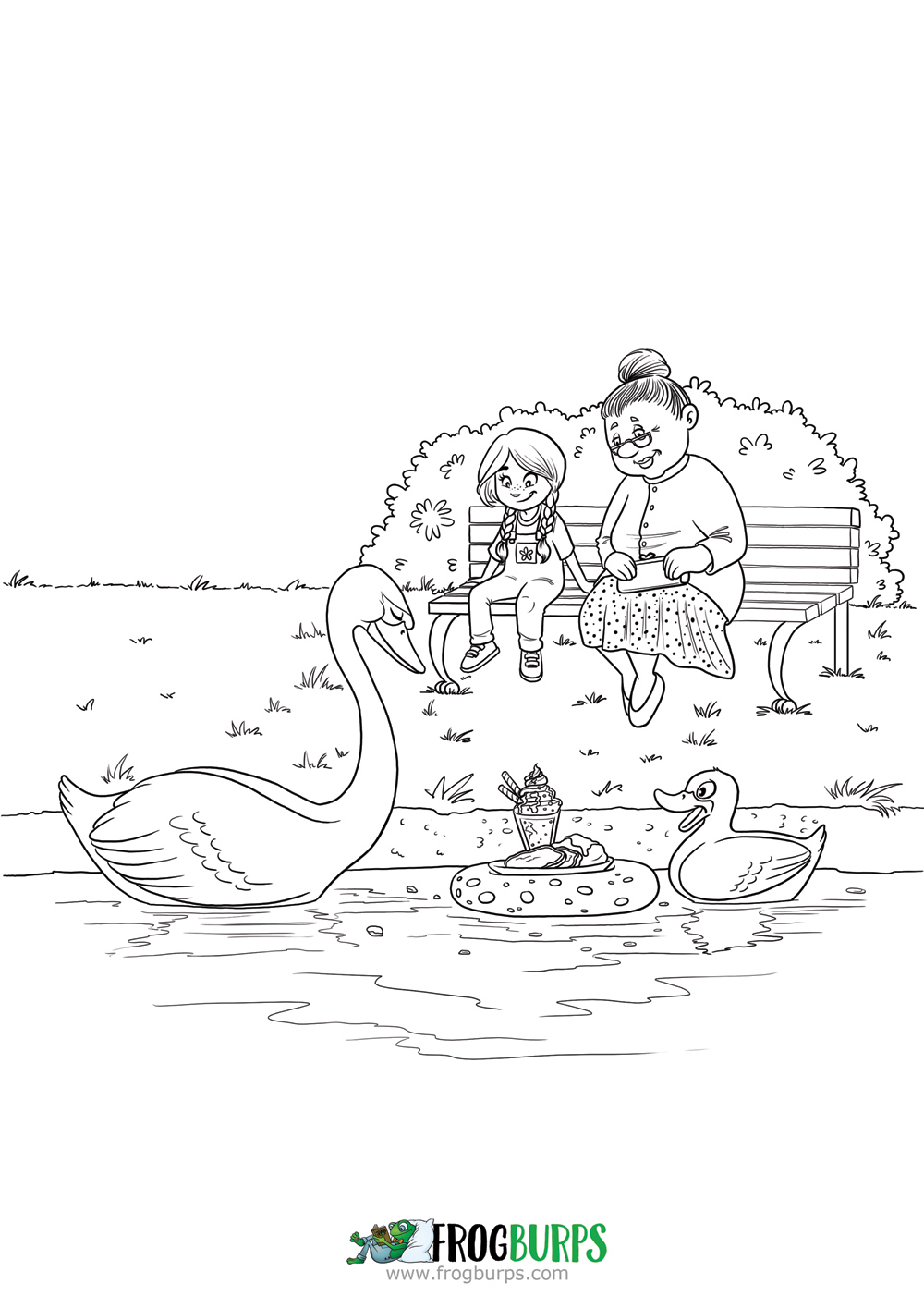 Bird Feed | Coloring Page
