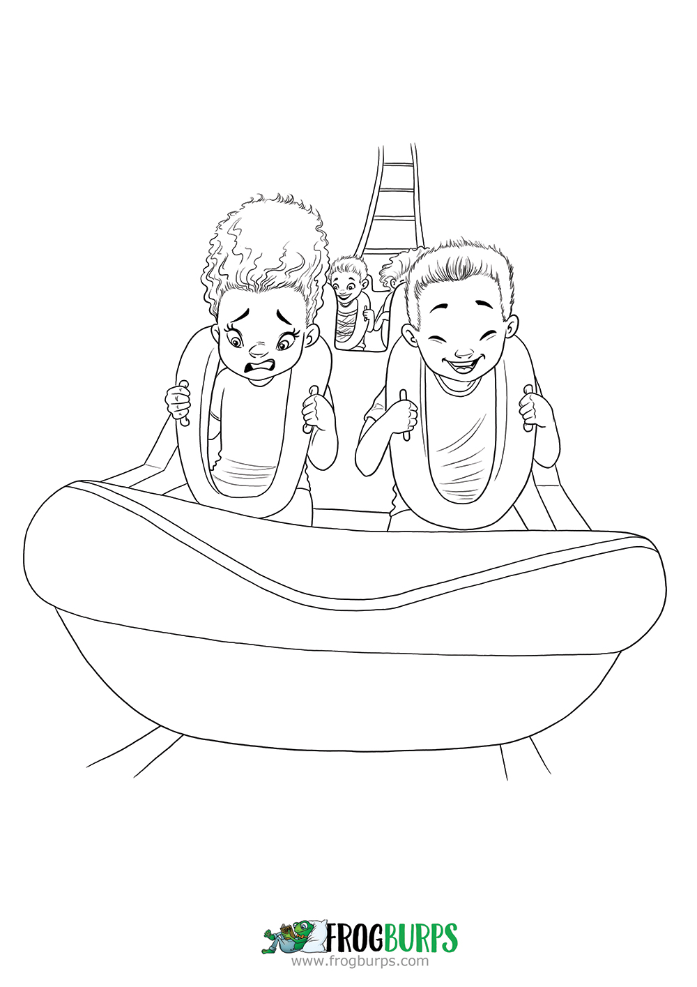 Roller Coaster | Coloring Page