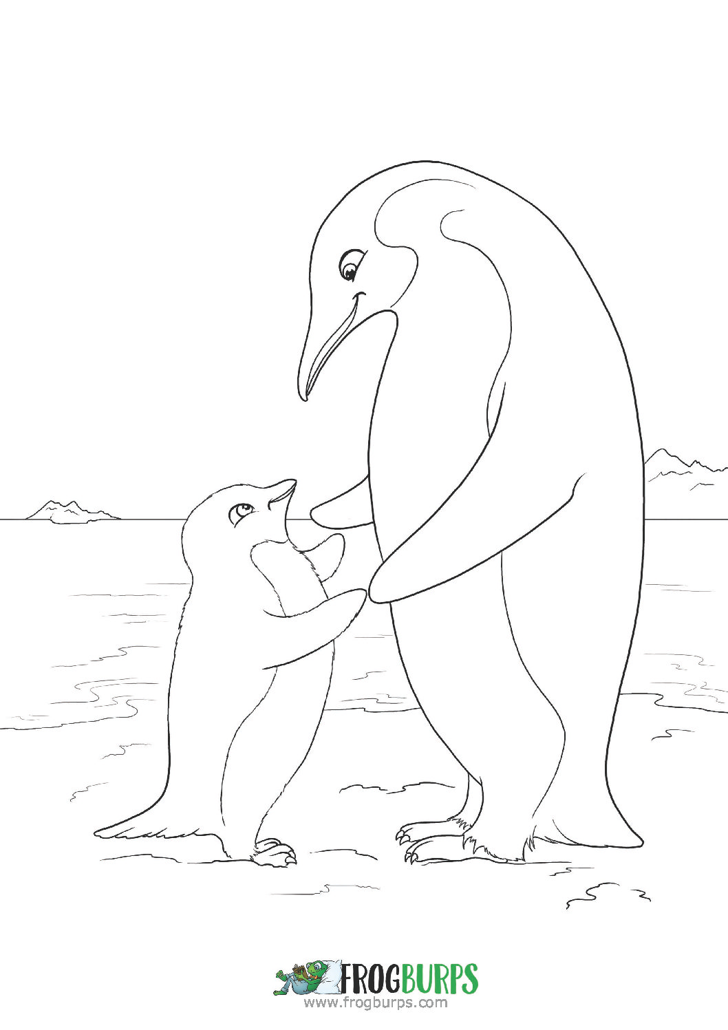 Penguins | Coloring Page