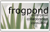 frogpond _ Enterprise 2.0, Wikis and Smart 'n Geeky Consulting