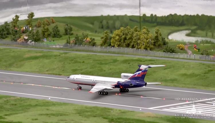 aeropuerto miniatura Increíble replica del aeropuerto de Hamburgo en miniatura
