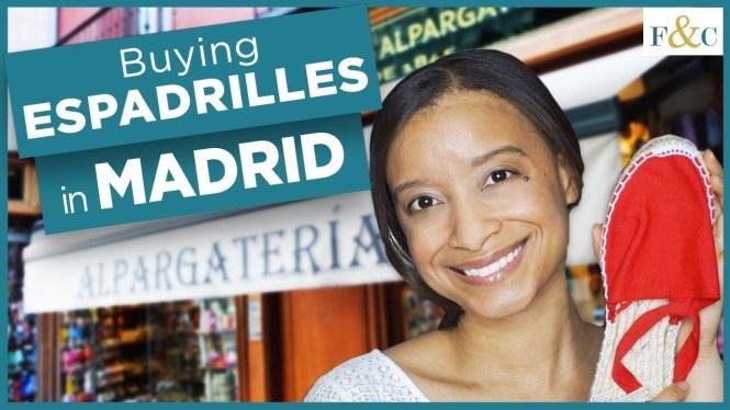 Photo of Buying Espadrilles at Casa Hernanz YouTube video thumbnail.
