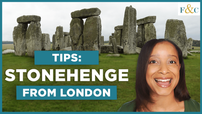 Screenshot of the Tips: Stonehenge from London YouTube video.