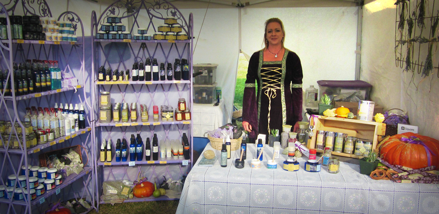 Lavender booth at festival