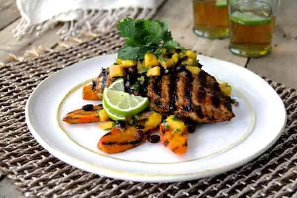 Jamaican Jerk-Style Chicken with Black Bean Mango Salsa