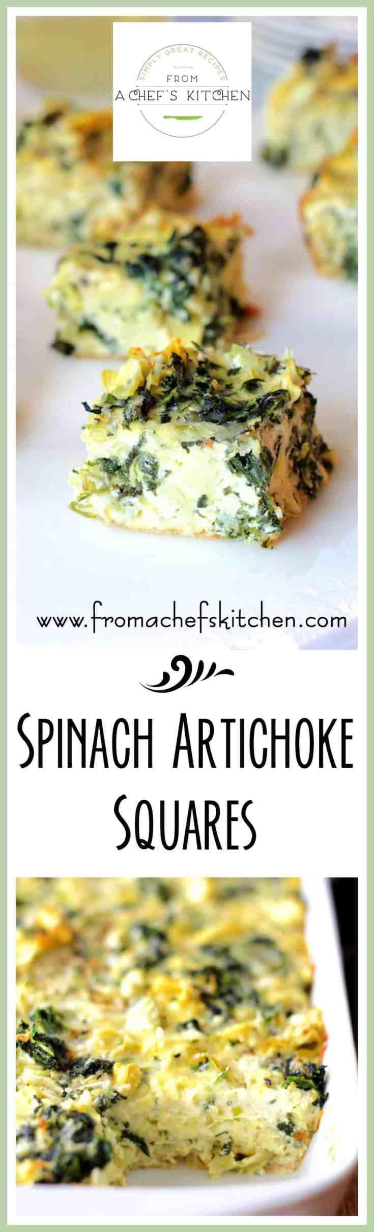 Spinach Artichoke Squares are a delicious low-carb spin on classic spinach artichoke dip for the perfect party treat everyone can enjoy! #appetizer #brunch #lowcarb #spinach #artichoke