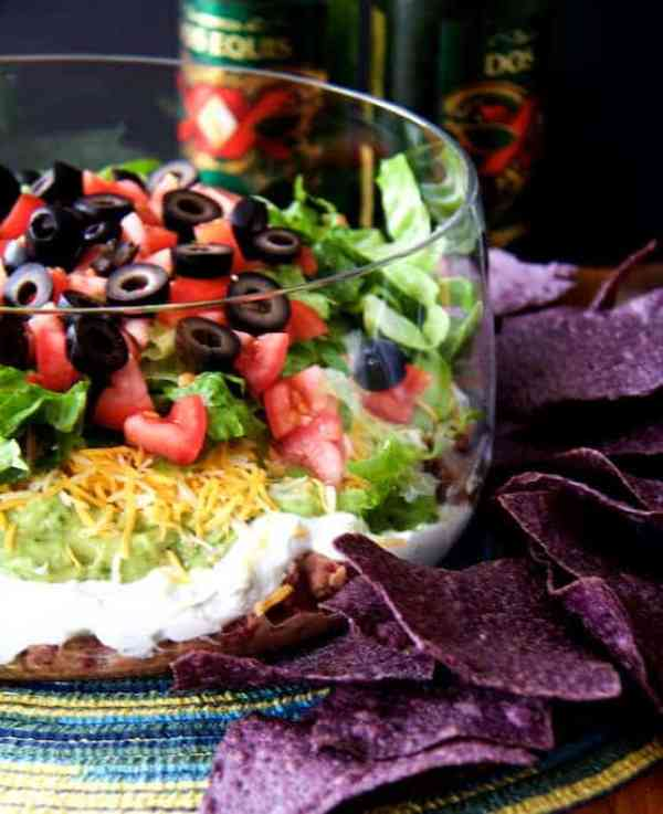 Lighter and Fresher Seven-Layer Dip