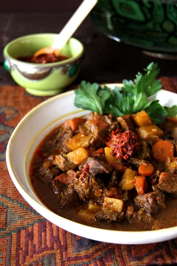 Moroccan Beef Stew Close-up