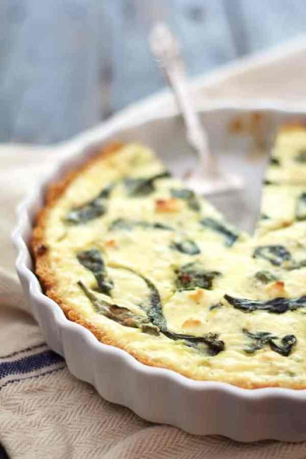 Spinach - Feta Quiche with Quinoa Crust