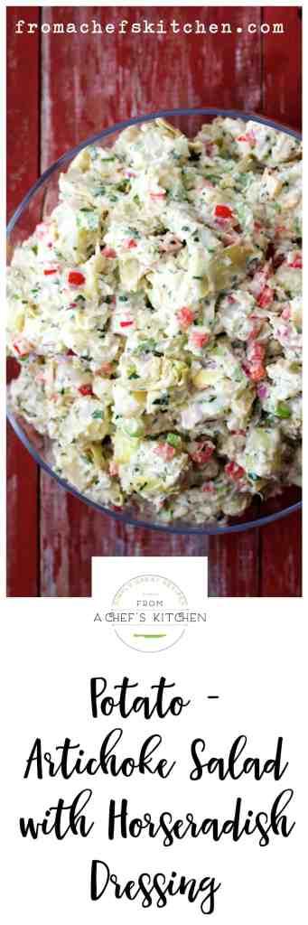 Potato - Artichoke Salad with Horseradish Dressing - Best. Potato Salad. Ever!