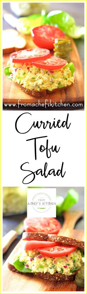 Wondering what to pack for lunch this week? This protein-packed tofu salad is a nice change from the ordinary!