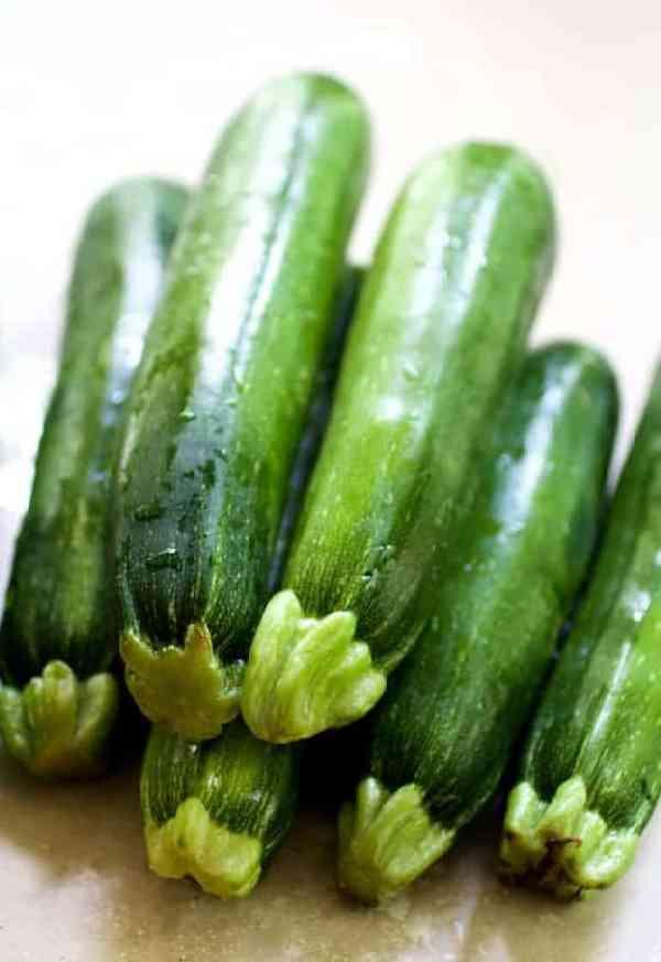 Pile of fresh zucchini