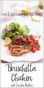 Pinterest Image for Bruschetta Chicken