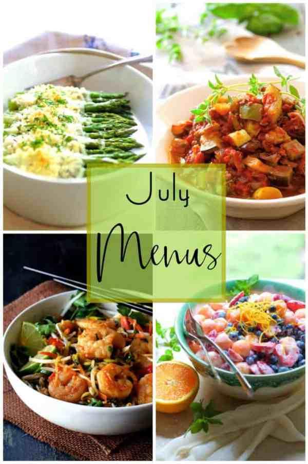 July Personal Chef Menus