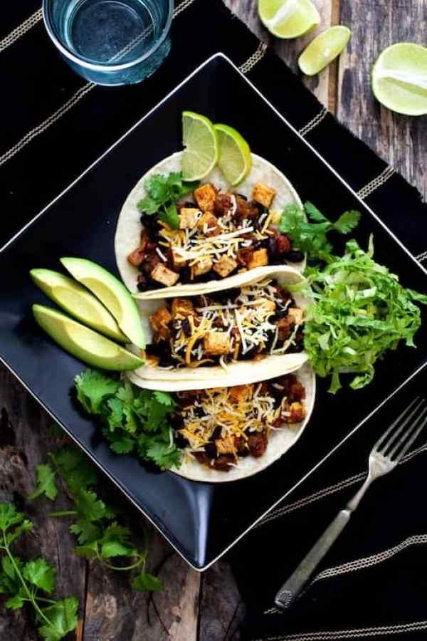 Tofu and Black Bean Tacos