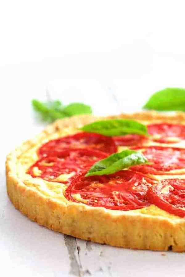 Tomato Ricotta Tart with Basil Pesto