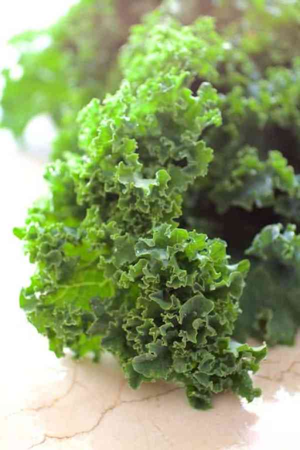 Close-up shot of kale