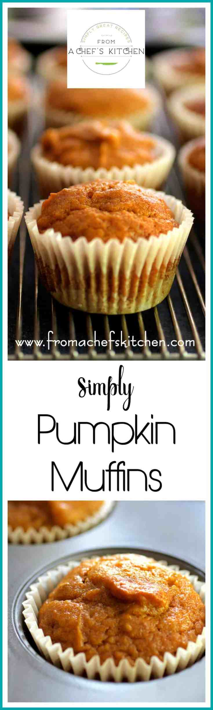 Simply Pumpkin Muffins are easy to make, deliciously light and uncomplicated with all the fall pumpkin flavor you love! #pumpkin #pumpkinmuffins #muffins #baking