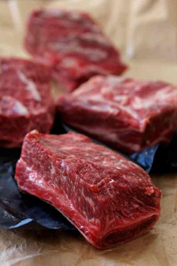 Cabernet Braised Beef Short Ribs with Cauliflower Leek Puree