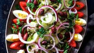 Tunisian Salad Platter or Assiette Tunisienne