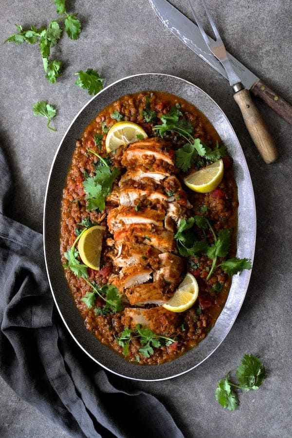 Slow Cooker Moroccan Turkey and Lentils