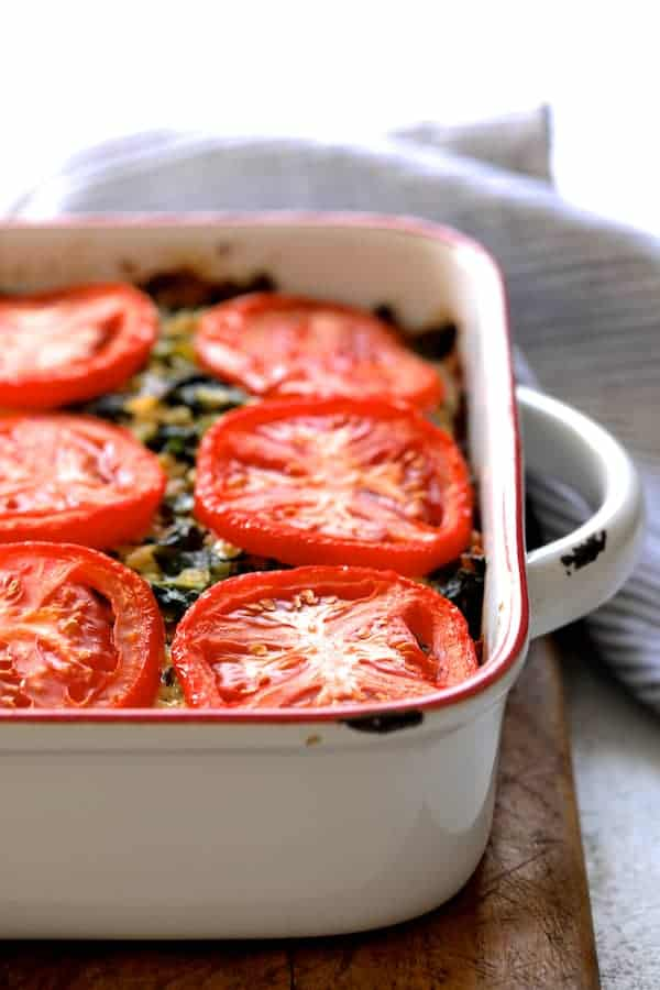 Brown Rice Cheddar and Kale Casserole