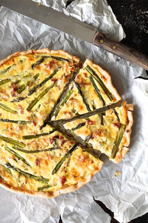 Asparagus Prosciutto and Fontina Tortino
