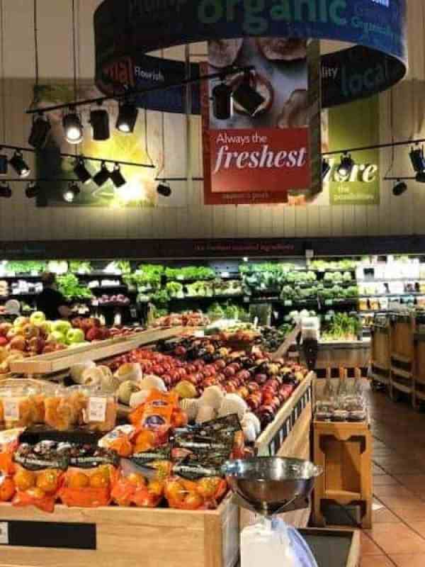 Grilled Burgers with Bacon Tomato Jam and Smoked Gouda + The Fresh Market's Father's Day Meal - Photo of produce department at The Fresh Market