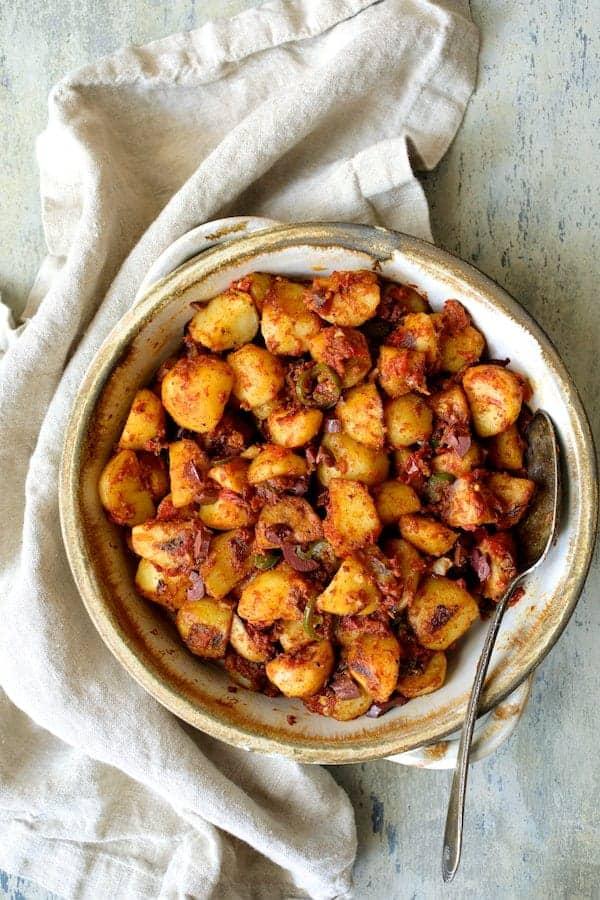 Patatas Bravas Chilenos (Chile Potatoes)