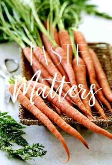 Taste Matters - Carrots