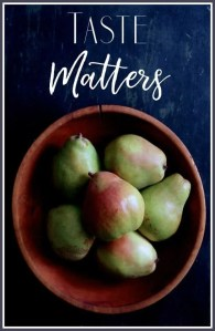 Taste Matters - Pears in Wooden Bowl